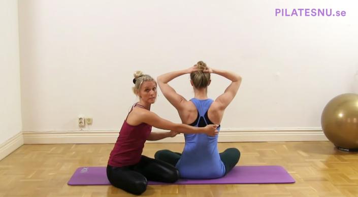 Pilates skuldrans placering